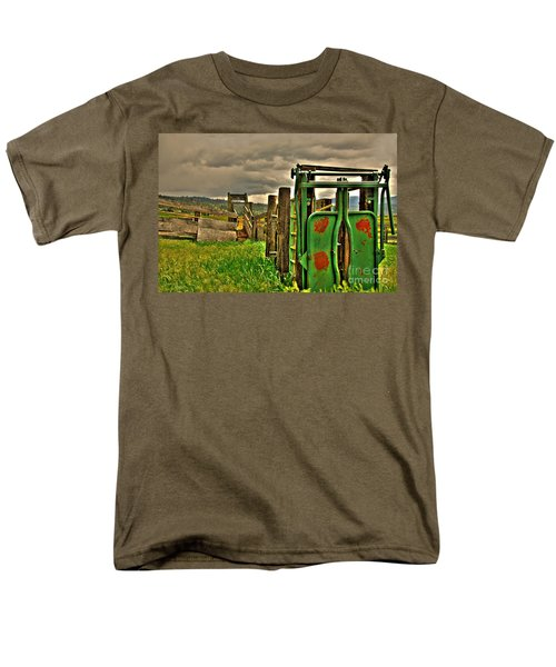 Men's T-Shirt  (Regular Fit) featuring the photograph Cattle Chute by Sam Rosen