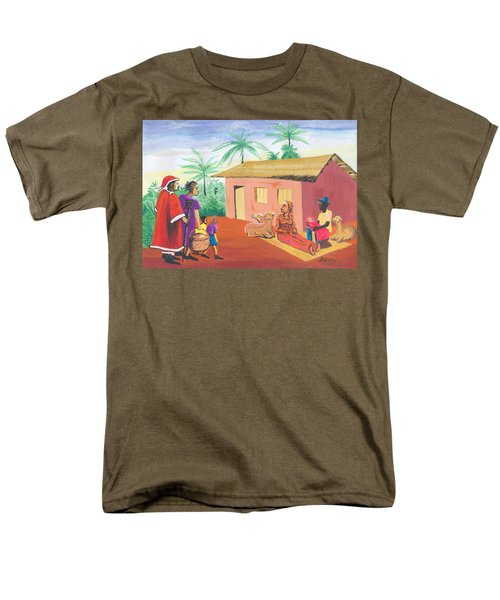 Celebration Of The Nativity In Cameroon Men's T-Shirt  (Regular Fit) by Emmanuel Baliyanga