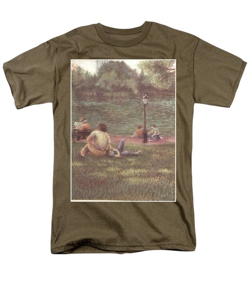 Men's T-Shirt  (Regular Fit) featuring the painting Central Park Nyc by Walter Casaravilla