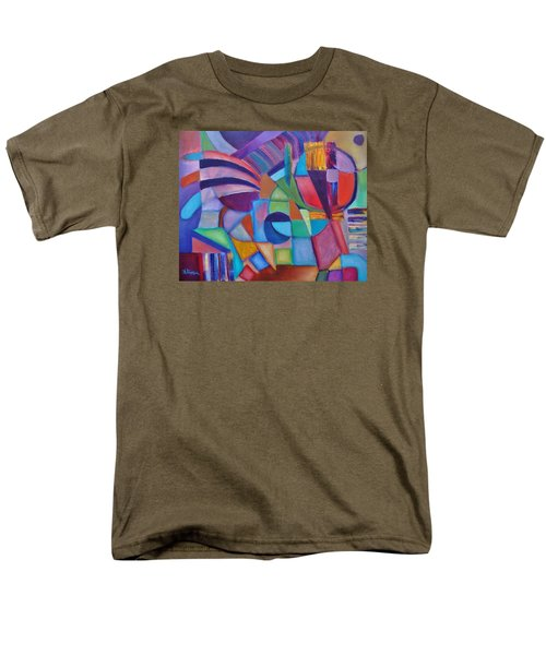 Men's T-Shirt  (Regular Fit) featuring the painting Cerebral Decor # 2 by Jason Williamson