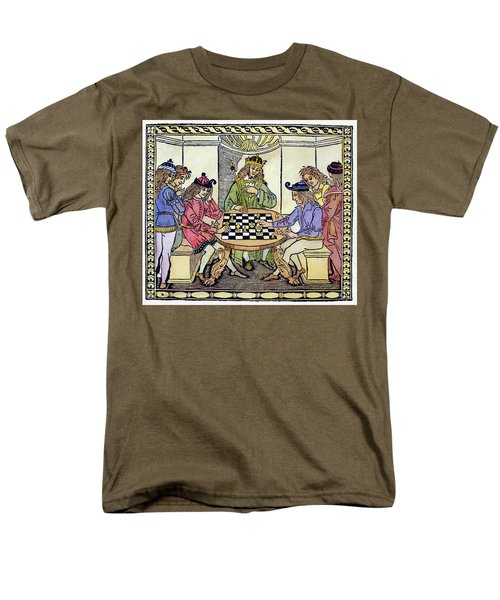 Men's T-Shirt  (Regular Fit) featuring the painting Cessolis Chess, 1493-94 by Granger