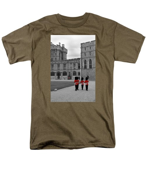 Men's T-Shirt  (Regular Fit) featuring the photograph Changing Of The Guard At Windsor Castle by Lisa Knechtel