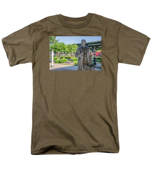 Men's T-Shirt  (Regular Fit) featuring the photograph Chattanooga Choo Choo Court Yard by Susan  McMenamin