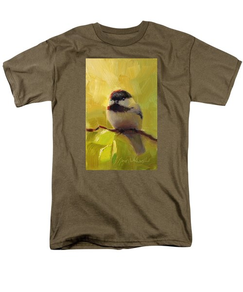 Chatty Chickadee - Cheeky Bird Men's T-Shirt  (Regular Fit) by Karen Whitworth