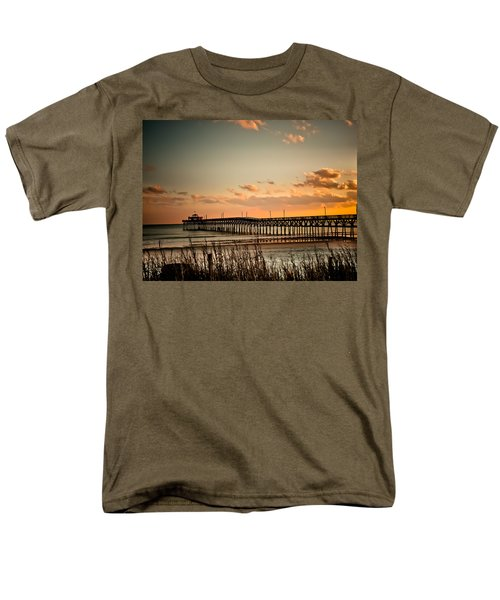 Cherry Grove Pier Myrtle Beach Sc Men's T-Shirt  (Regular Fit) by Trish Tritz