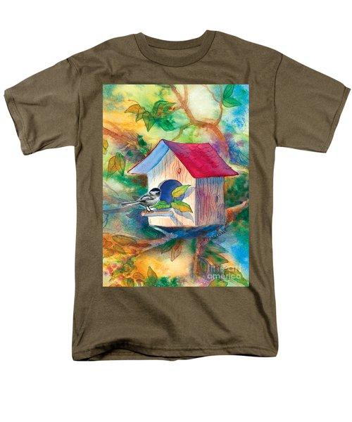 Chickadee Bungalow Men's T-Shirt  (Regular Fit)