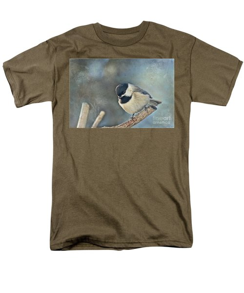 Chickadee With Texture Men's T-Shirt  (Regular Fit) by Debbie Portwood