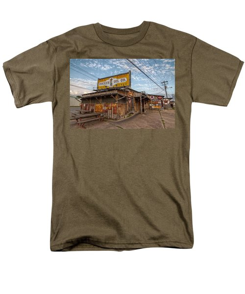 Chicken Oil Company Men's T-Shirt  (Regular Fit) by Linda Unger
