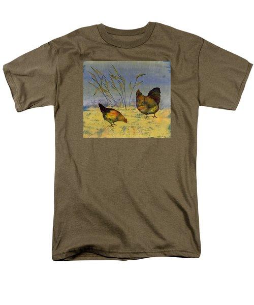Chickens On Silk Men's T-Shirt  (Regular Fit) by Carolyn Doe