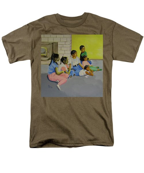 Men's T-Shirt  (Regular Fit) featuring the painting Children's Attention Span  by Thomas J Herring