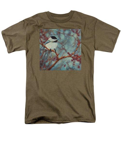 Chilly Chickadee Men's T-Shirt  (Regular Fit)