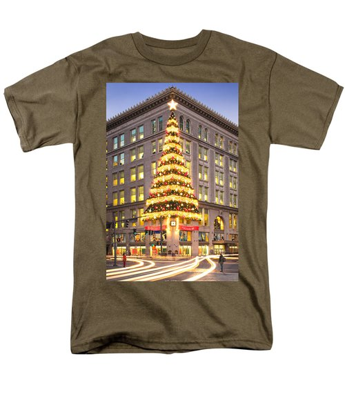Christmas In Pittsburgh  Men's T-Shirt  (Regular Fit) by Emmanuel Panagiotakis