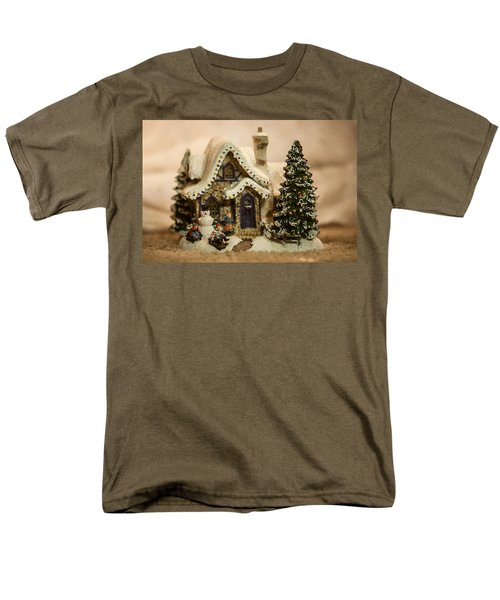 Men's T-Shirt  (Regular Fit) featuring the photograph Christmas Toy Village by Alex Grichenko