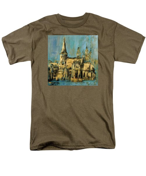 Men's T-Shirt  (Regular Fit) featuring the painting Church by Arturas Slapsys