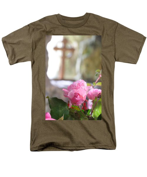 Men's T-Shirt  (Regular Fit) featuring the photograph Church Flowers by Jeremy Voisey