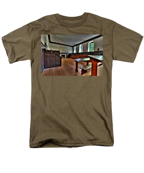 Men's T-Shirt  (Regular Fit) featuring the photograph Classroom Wren Building by Jerry Gammon