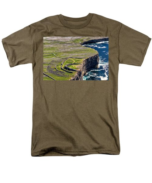 Men's T-Shirt  (Regular Fit) featuring the photograph Cliffs Of Inishmoore by Juergen Klust