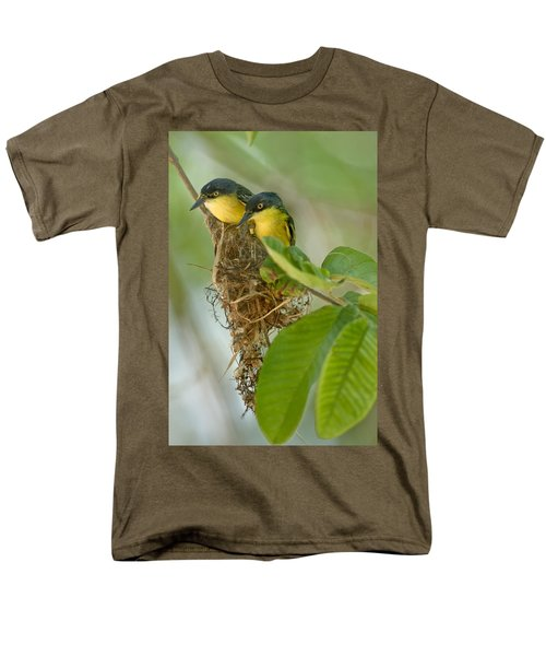 Close-up Of Two Common Tody-flycatchers Men's T-Shirt  (Regular Fit) by Panoramic Images