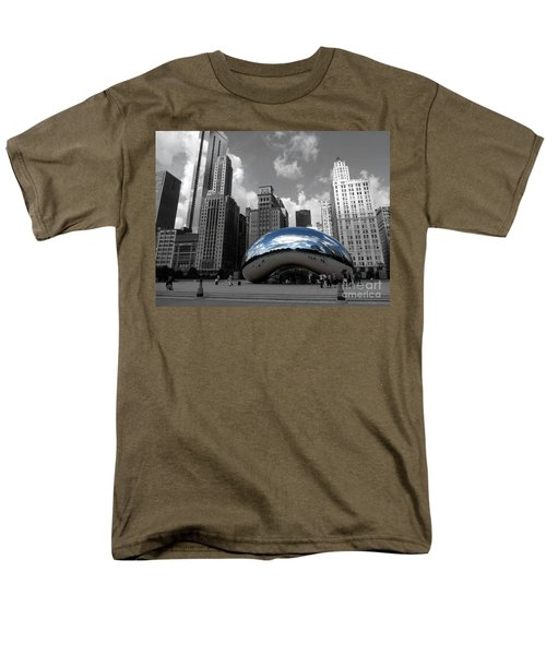 Cloud Gate B-w Chicago Men's T-Shirt  (Regular Fit) by David Bearden