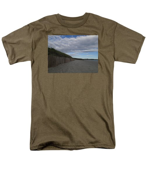 Men's T-Shirt  (Regular Fit) featuring the photograph Clouded Beach by Robert Nickologianis