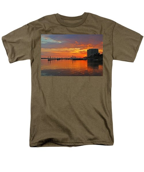 Men's T-Shirt  (Regular Fit) featuring the digital art Colbalt Morning by Michael Thomas
