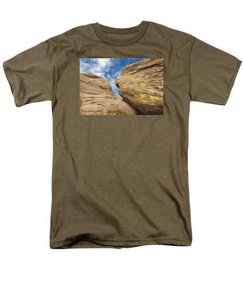 Men's T-Shirt  (Regular Fit) featuring the painting Colby's Cliff by Bruce Nutting
