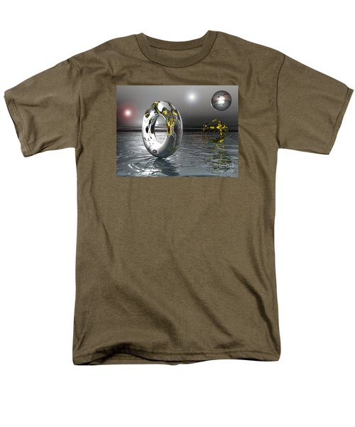 Men's T-Shirt  (Regular Fit) featuring the digital art Cold Steele by Jacqueline Lloyd