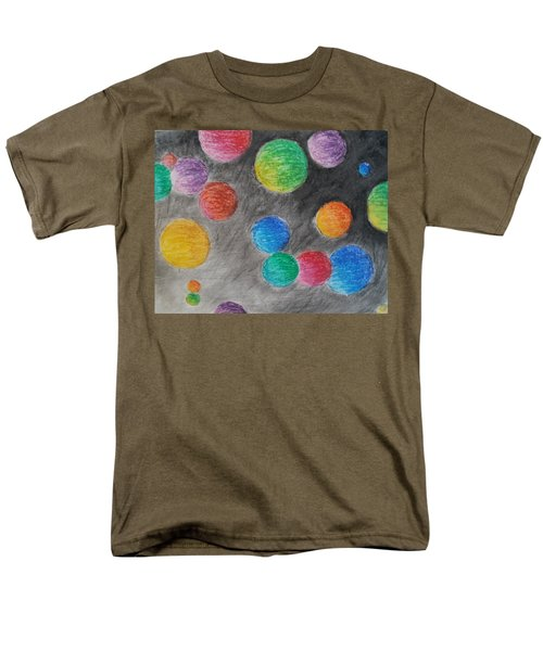Colorful Orbs Men's T-Shirt  (Regular Fit) by Thomasina Durkay