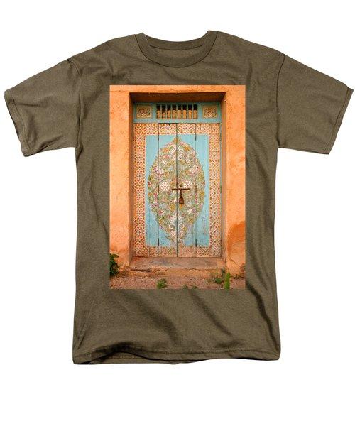Colourful Moroccan Entrance Door Sale Rabat Morocco Men's T-Shirt  (Regular Fit) by Ralph A  Ledergerber-Photography