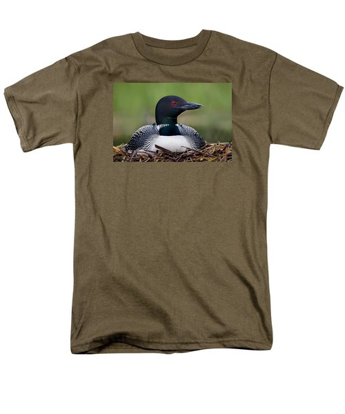Common Loon On Nest British Columbia Men's T-Shirt  (Regular Fit)