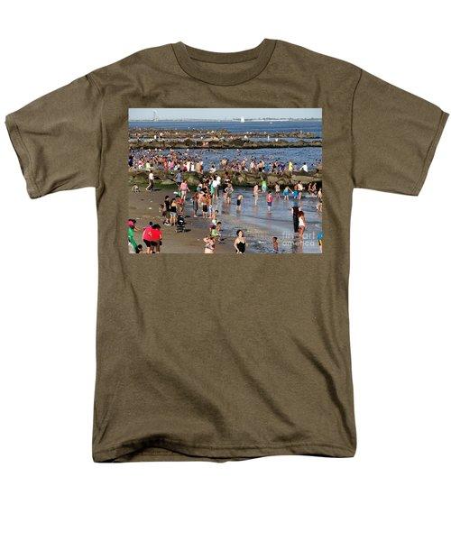 Men's T-Shirt  (Regular Fit) featuring the photograph Coney Island Rocks by Ed Weidman