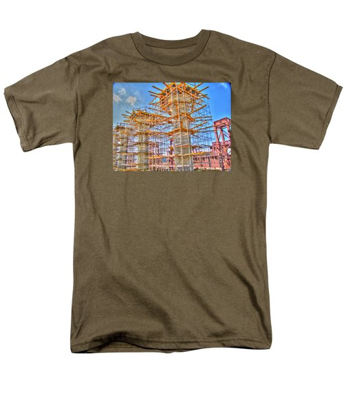 Men's T-Shirt  (Regular Fit) featuring the pyrography construction whsd  Peterburg by Yury Bashkin