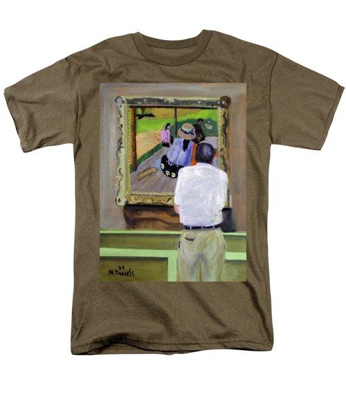 Contemplating Gauguin Men's T-Shirt  (Regular Fit) by Michael Daniels