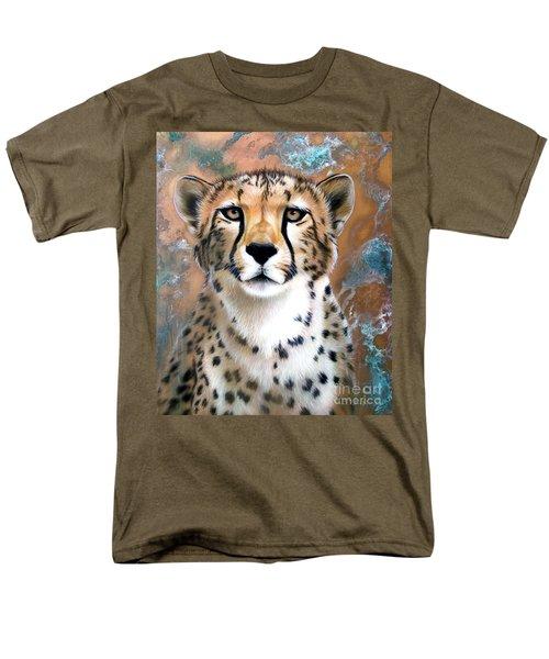 Copper Flash - Cheetah Men's T-Shirt  (Regular Fit) by Sandi Baker