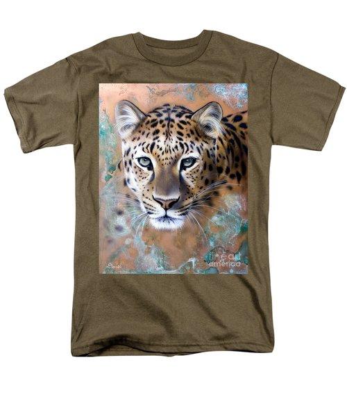 Copper Stealth - Leopard Men's T-Shirt  (Regular Fit) by Sandi Baker