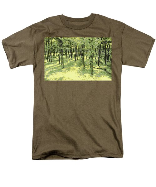 Men's T-Shirt  (Regular Fit) featuring the photograph Copse Of Trees Sunlight by Tom Wurl