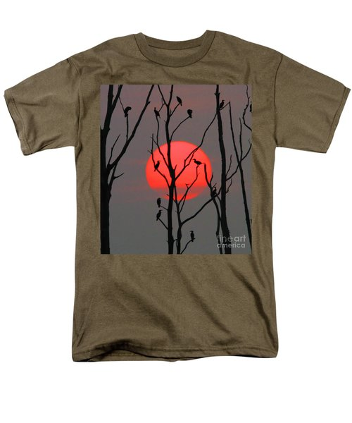 Cormorants At Sunrise Men's T-Shirt  (Regular Fit) by Roger Becker