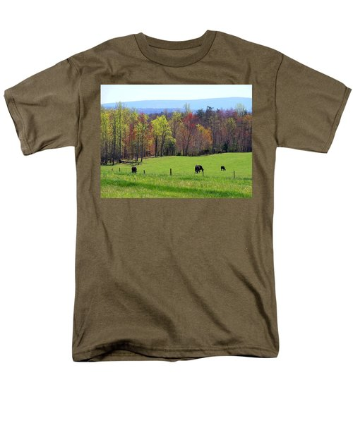 Men's T-Shirt  (Regular Fit) featuring the photograph Countryside In Spring by Kathryn Meyer