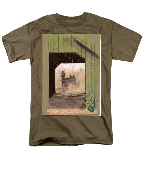 Covered Bridge Men's T-Shirt  (Regular Fit) by Catherine Swerediuk
