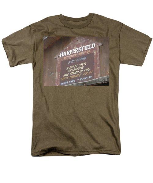 Men's T-Shirt  (Regular Fit) featuring the photograph Covered Bridge  by Michael Krek