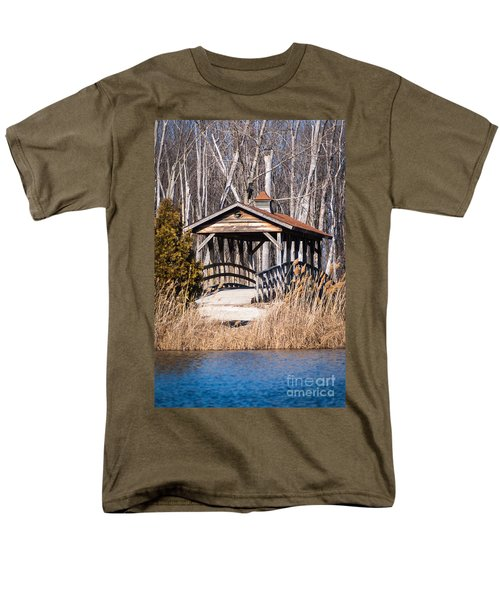 Covered Bridge Men's T-Shirt  (Regular Fit) by Patrick Shupert