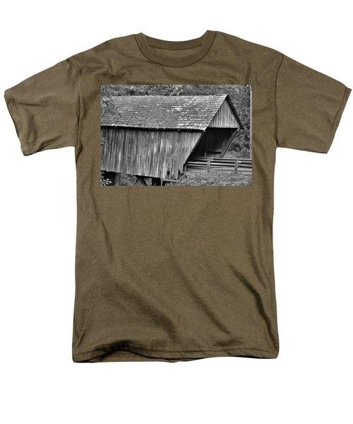 Covered Bridge Men's T-Shirt  (Regular Fit) by Tara Potts