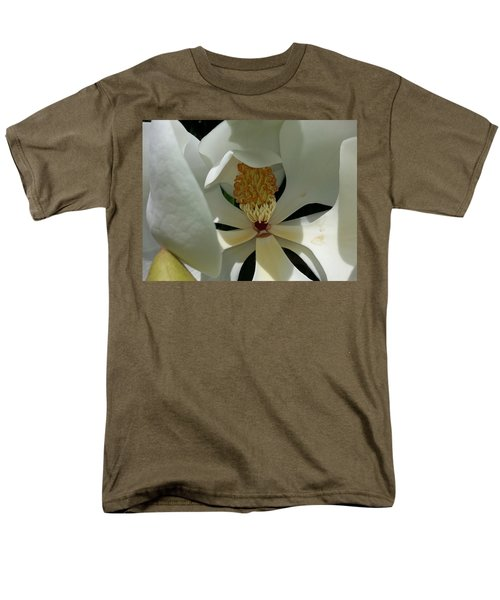 Men's T-Shirt  (Regular Fit) featuring the photograph Coy Magnolia by Caryl J Bohn