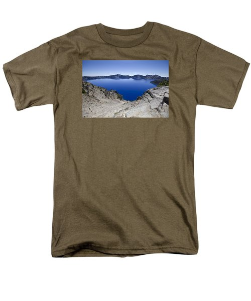 Crater Lake Men's T-Shirt  (Regular Fit) by David Millenheft