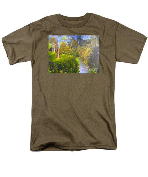 Creek In The Bush Men's T-Shirt  (Regular Fit) by Pamela  Meredith