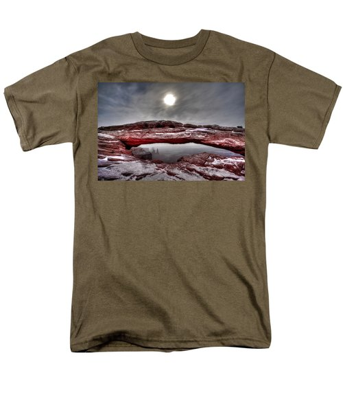 Men's T-Shirt  (Regular Fit) featuring the photograph Crimson Arch by David Andersen