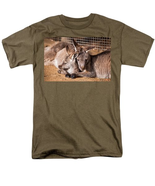 Cuddling Kangaroos Men's T-Shirt  (Regular Fit) by Ray Warren