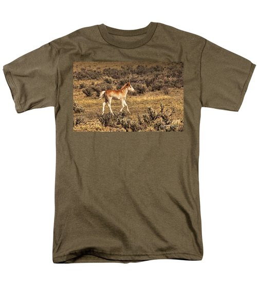 Cute Colt Wild Horse On Navajo Indian Reservation  Men's T-Shirt  (Regular Fit) by Jerry Cowart