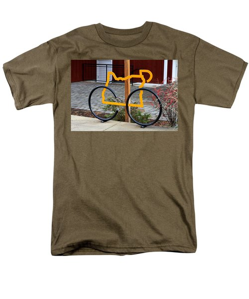 Men's T-Shirt  (Regular Fit) featuring the photograph Cycle Oregon by Kevin Desrosiers
