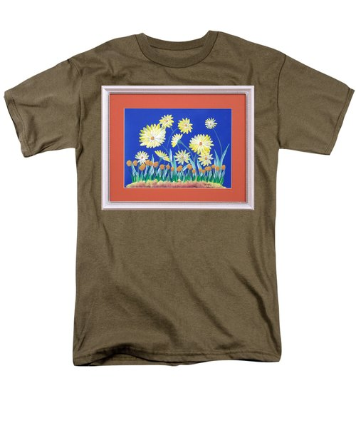 Men's T-Shirt  (Regular Fit) featuring the painting Daisies by Ron Davidson